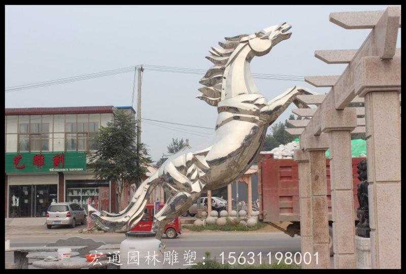 上海个性不锈钢飞马雕塑-不错的动物不锈钢雕塑当选宏通园林不锈钢雕塑