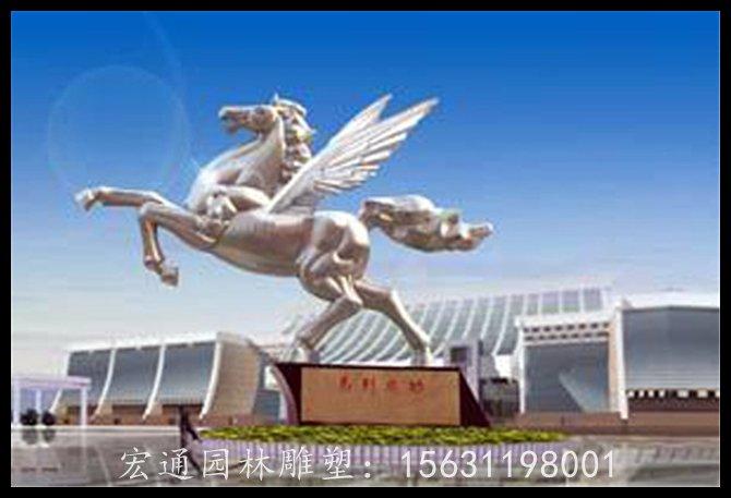 上海廠家推薦不銹鋼飛馬雕塑|搶手的動物不銹鋼雕塑當選宏通園林不銹鋼雕塑