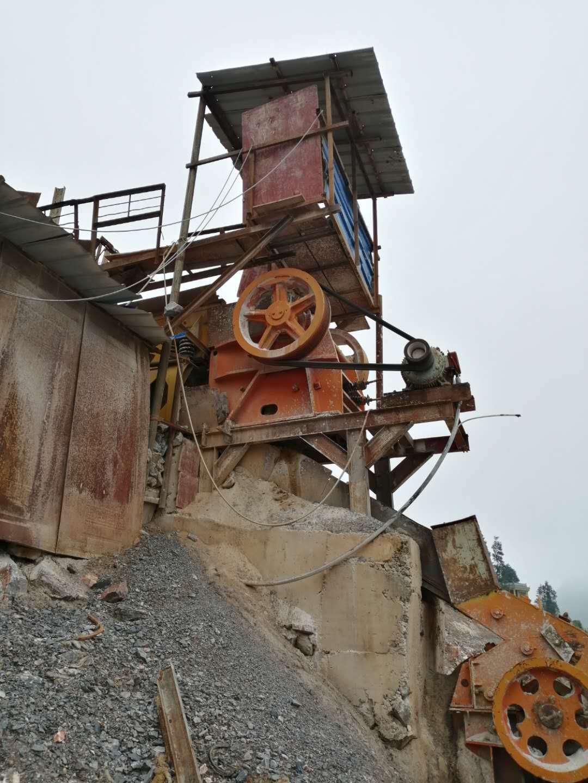 二手矿山机械石料破碎机整套生产线低价处理