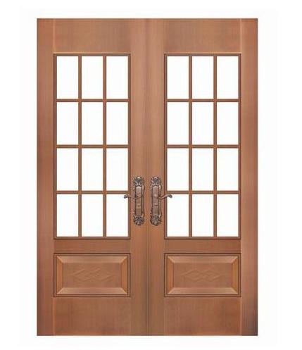 广西通透式铜门,双开式别墅铜门