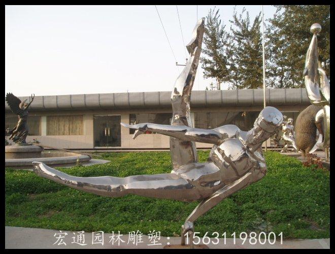 鞍馬運動雕塑不銹鋼人物雕塑廠家
