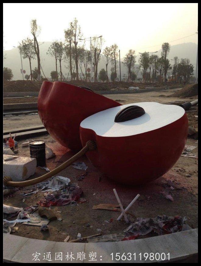 陕西创新型的苹果不锈钢雕塑|地球仪不锈钢雕塑供应商哪家有实力