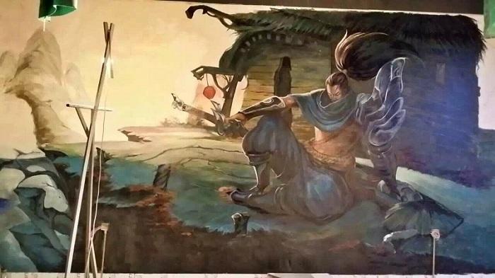 十二年绘画功底青州专业墙体彩绘 手绘墙 油画壁画