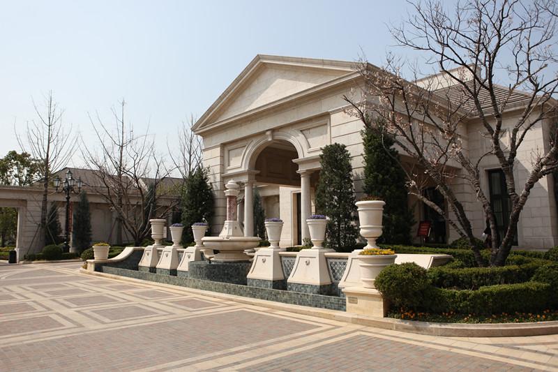 别墅外墙哪里找-私人别墅外墙-房地产石材-找福建冠艺石材厂
