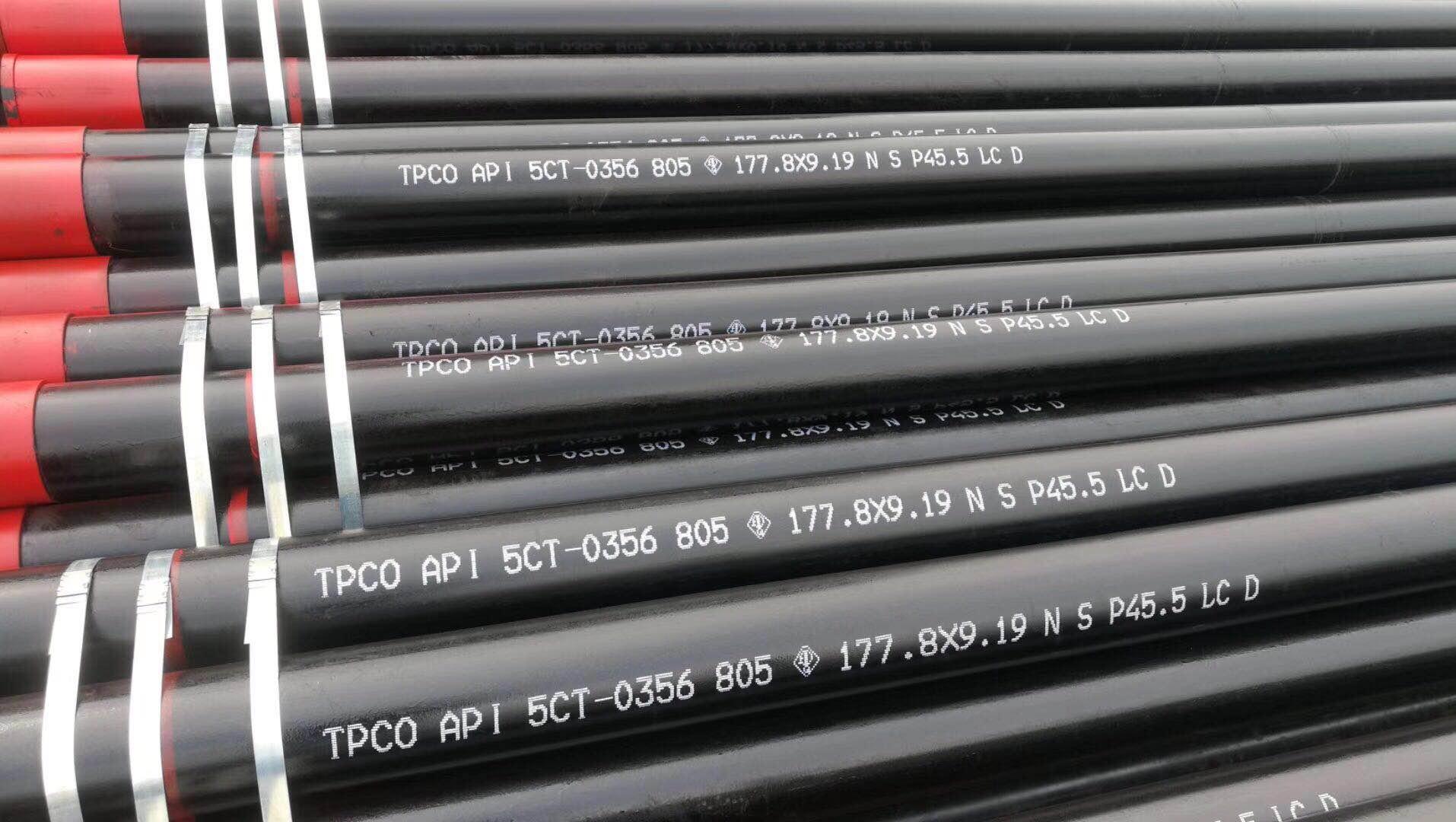 BTC石油套管?#22909;?#26631;无缝钢管:两寸半油管:地质管