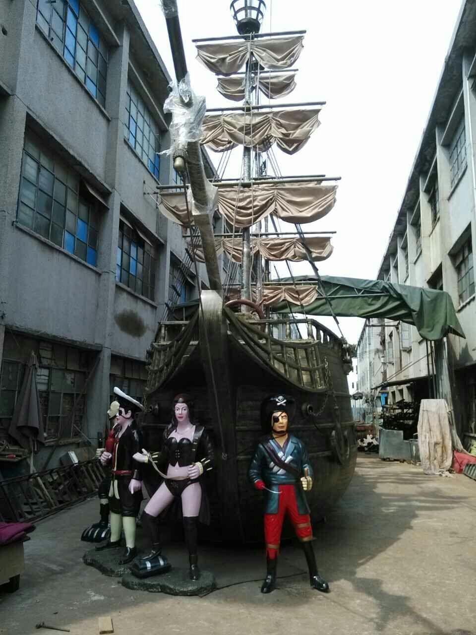 深圳装饰精品精美木船、景观船艺术品指定景观船生产厂家
