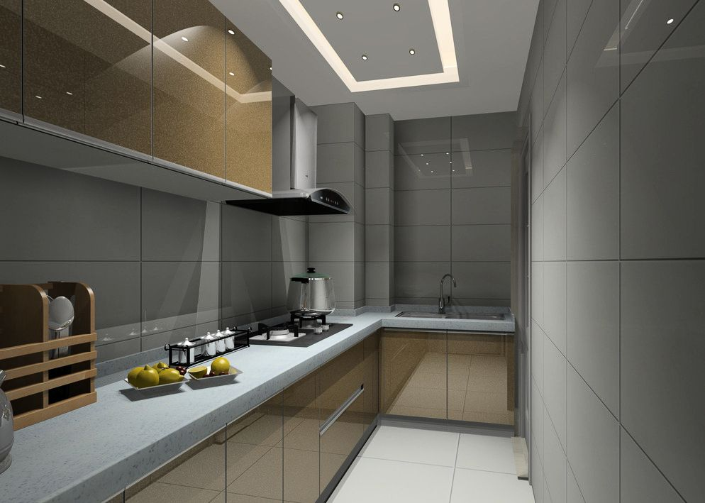 好的鋁制櫥柜-竹炭版-石塑板【青島鋁制家具】