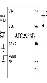 厂家的AIC2935B5A同步降压转换器 深圳口碑好的AIC2935B芯片