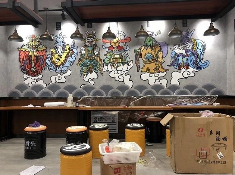 【美院团队】放心专业的墙绘绘制团队青州墙绘 潍坊墙绘