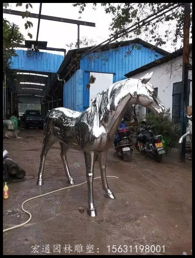 不锈钢马雕塑公园动物雕塑厂家