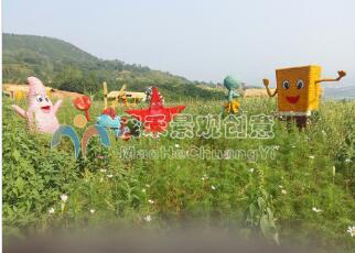 杭州稻草人工藝品定制-別致的稻草人工藝品當選茂禾景觀