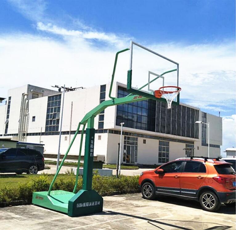 独臂篮球架-口碑好的移动式球架尽在东莞市强利体育器材