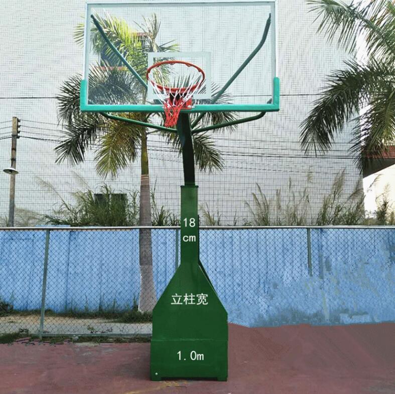 新型篮球架平箱仿液压|东莞市强利体育器材专业供应可移动篮球架仿液压