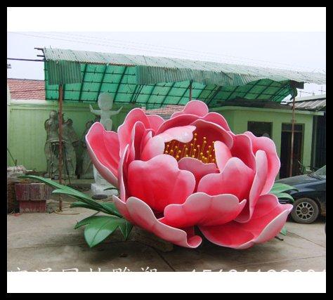 不锈钢仿真花朵公园雕塑厂家