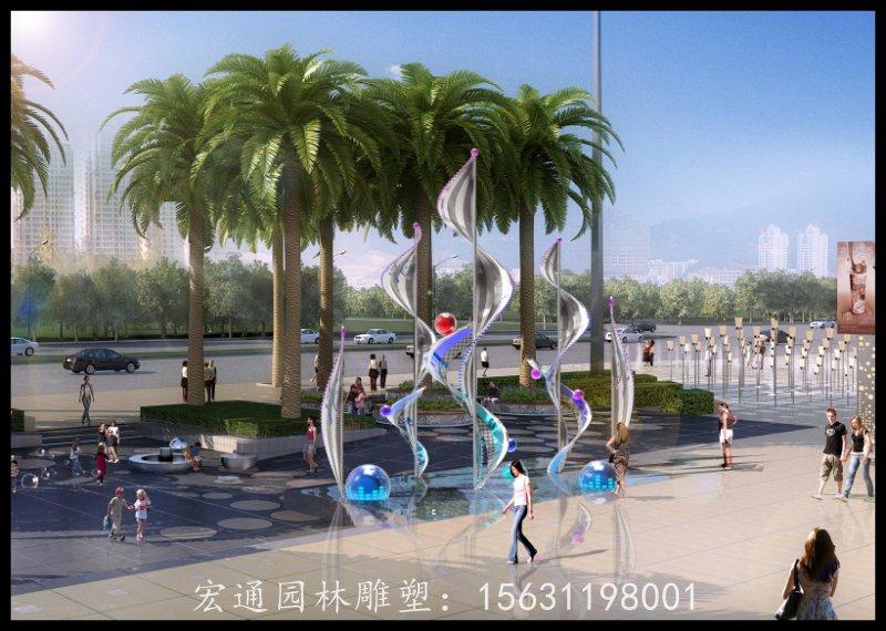 不锈钢升华雕塑广场景观雕塑厂家