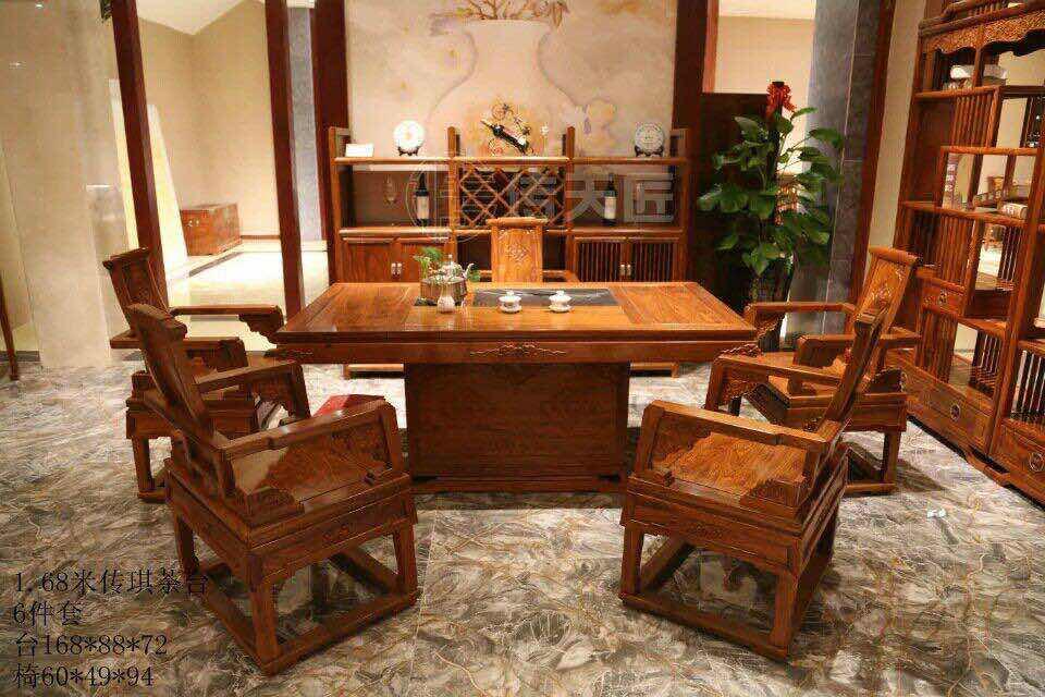 廣東紅木辦公臺定制-東莞哪里能買到新款傳天匠傳祺紅木家具