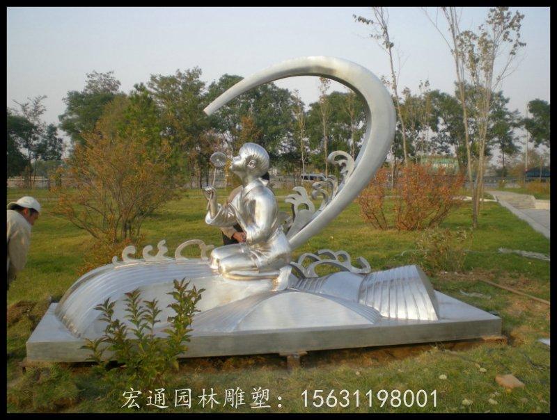 不锈钢小女孩雕塑公园景观雕塑厂家