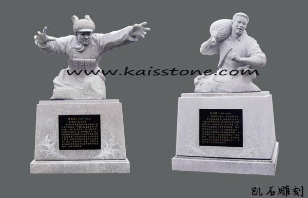 石雕人像批发-想要技艺精巧的寺庙雕像就找凯石石业