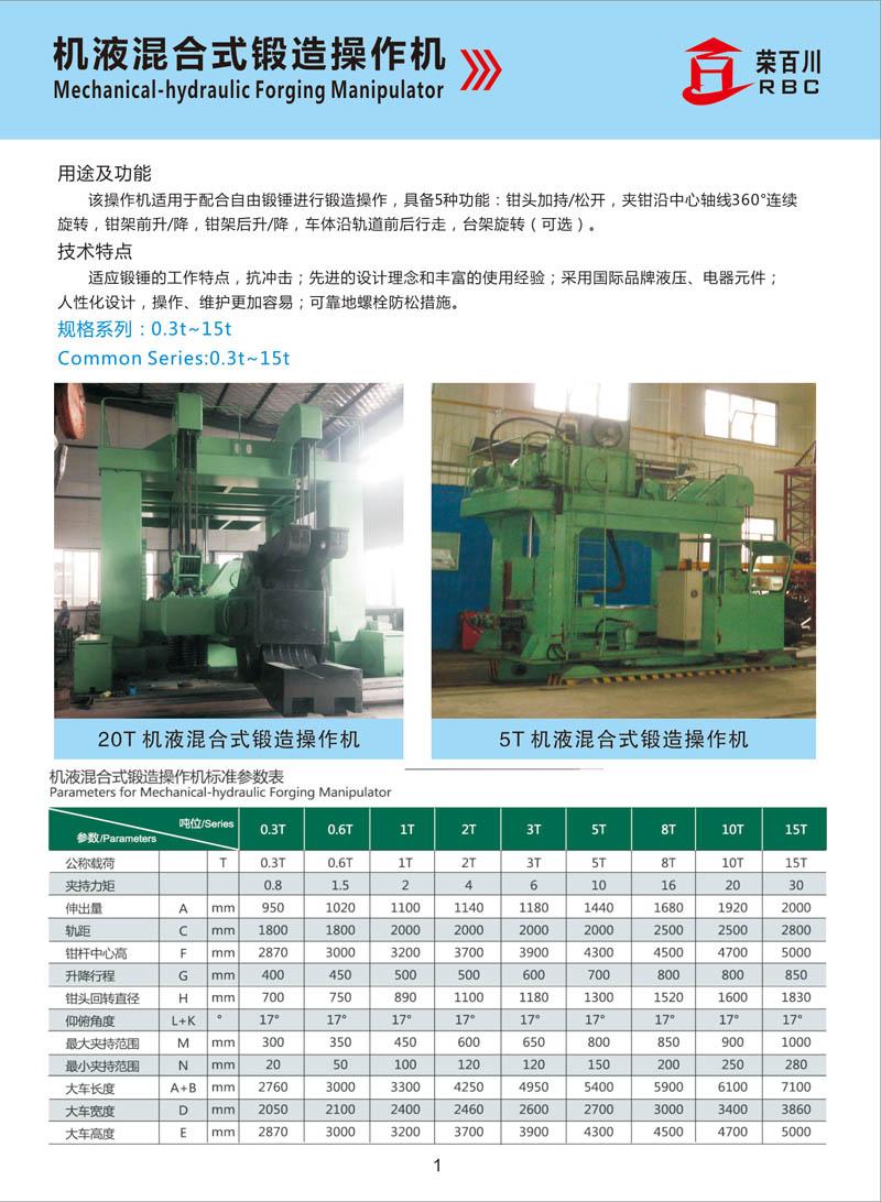 青岛机液混合式锻造操作机厂家推荐_锻造机械手
