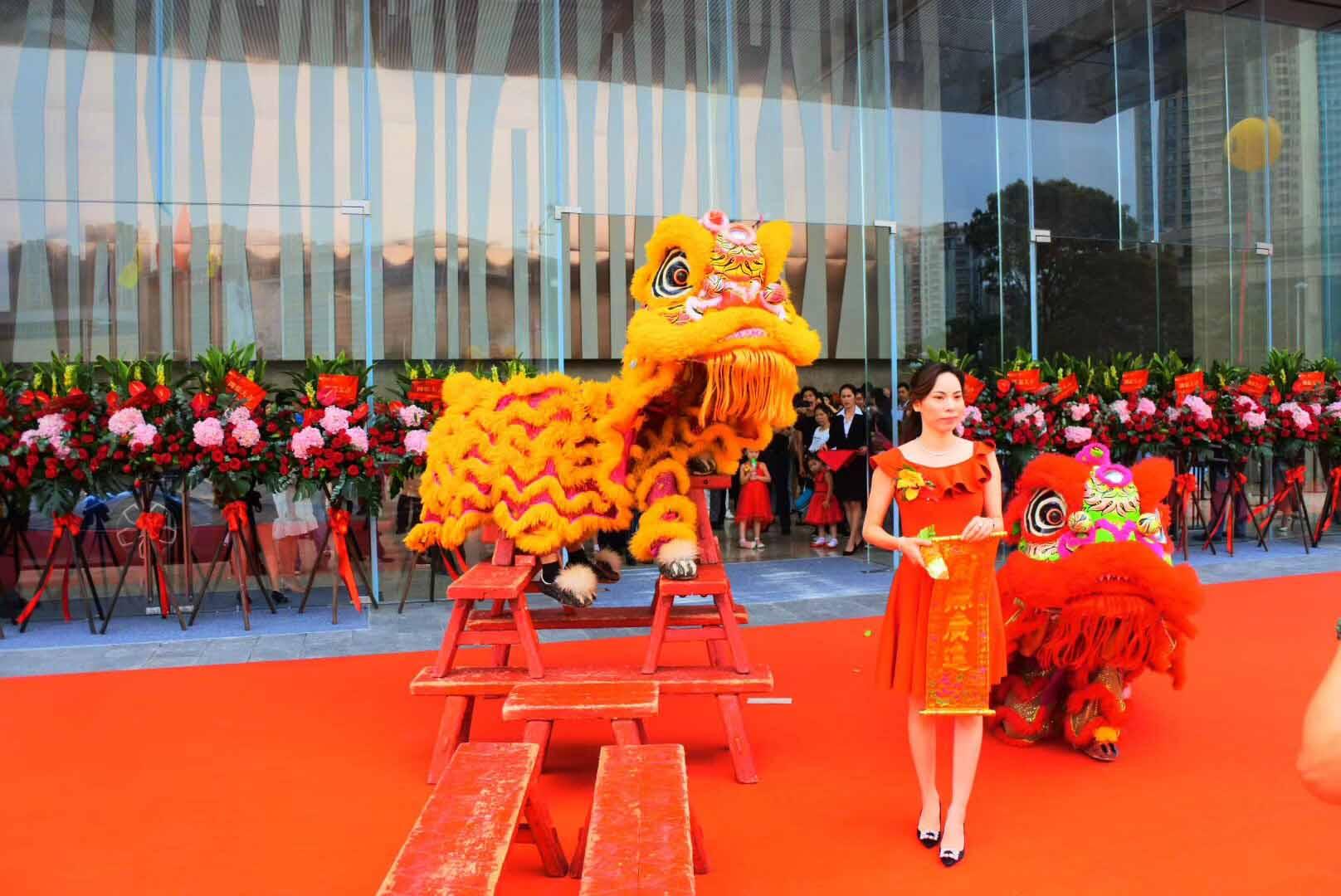 珠三角受欢迎的礼仪迎宾舞狮表演