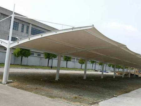 天津学校膜结构车棚图片-山东彭硕金属制品提供膜结构车棚制造