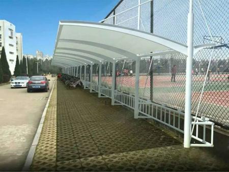 河北省張拉膜結構車棚廠家-膜結構車棚價格