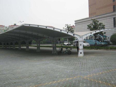 内蒙古学校膜结构车棚图片-膜结构车棚价格