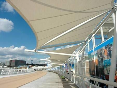 山东省收费站膜结构顶棚工程-购买膜结构遮阳棚就来山东彭硕金属制品