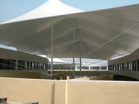 【好口碑@彭硕】收费站膜结构顶棚_游泳馆膜结构遮阳棚——安装