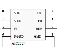 广东AIC2324低负载效率的4A同步脉宽调制降压芯片推荐