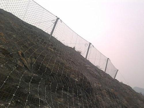 滑坡滾石防護被動網_15131856266護坡柔性被動攔石網