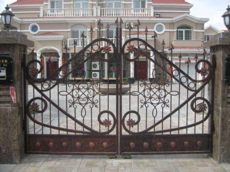 别墅庭院门制造商-临朐铝艺大门厂家