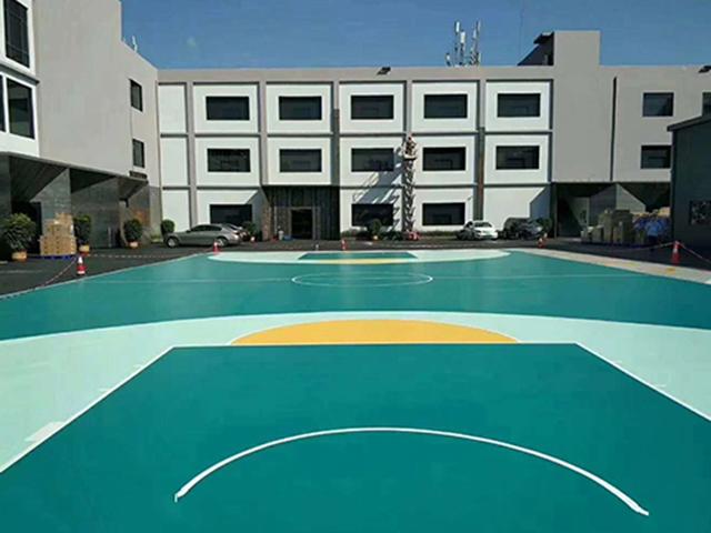 安陽硅PU籃球場價格|河北奧華體育專業供應硅PU籃球場