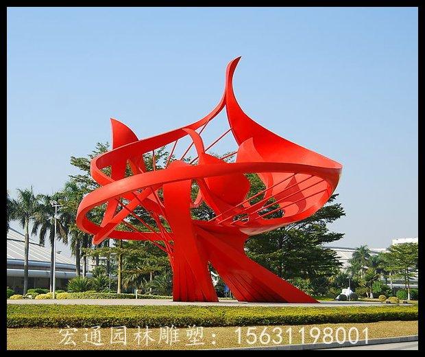 大型抽象花朵雕塑广场不锈钢雕塑厂家