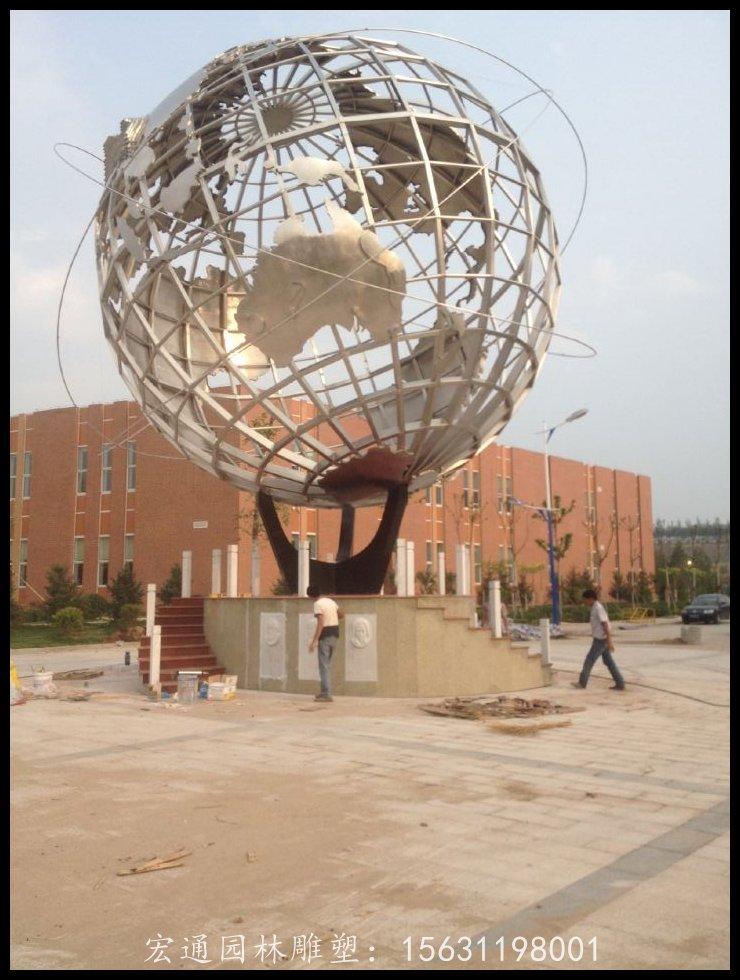 大型地球雕塑不锈钢广场雕塑厂家