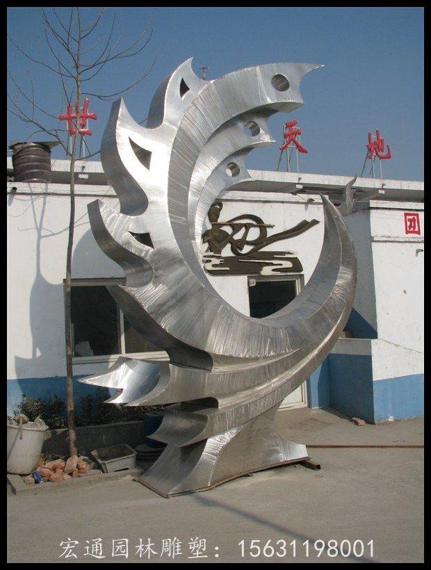 凤凰抽象雕塑广场不锈钢雕塑厂家