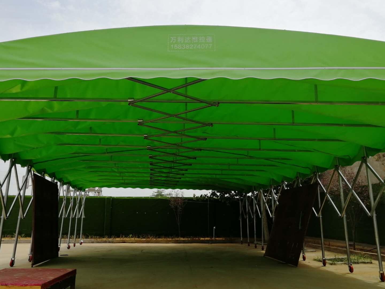 郑州定做推拉蓬伸缩蓬折叠蓬防雨蓬膜结构车棚厂家