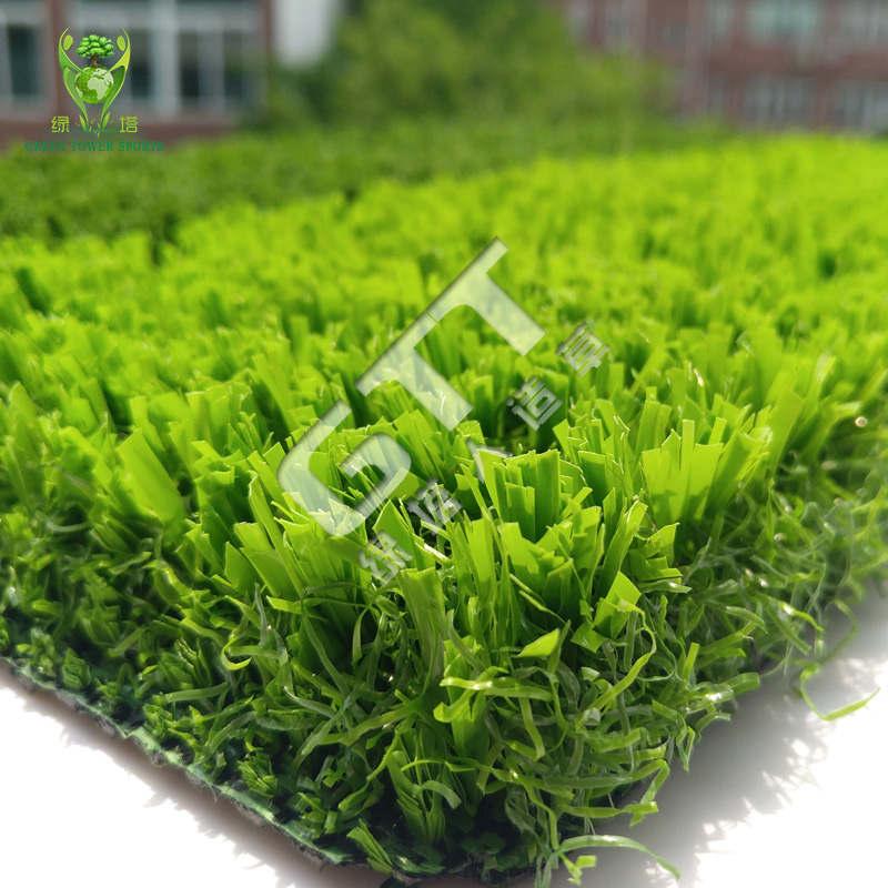足球场专用免填充人造草坪高密度免填砂草坪