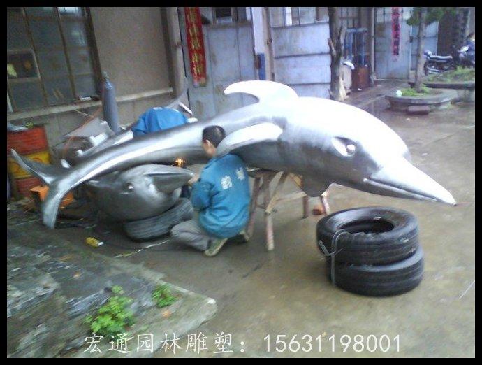 海豚不锈钢雕塑广场动物雕塑厂家