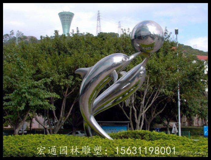 海豚雕塑公园不锈钢动物雕塑厂家