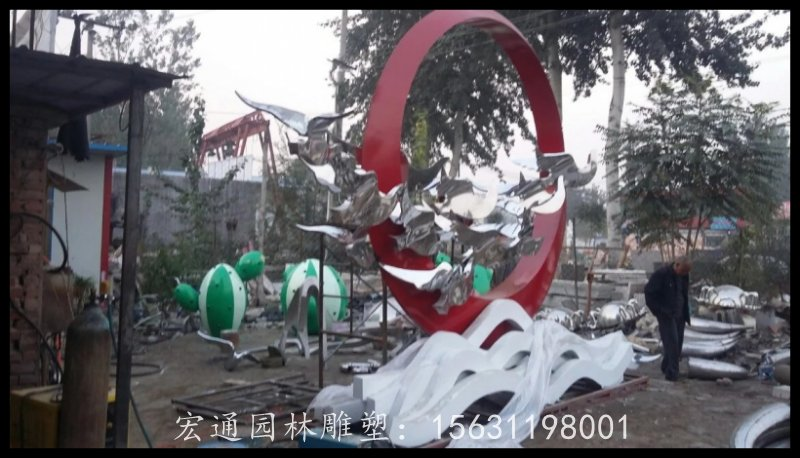 和平鸽雕塑不锈钢广场雕塑 厂家