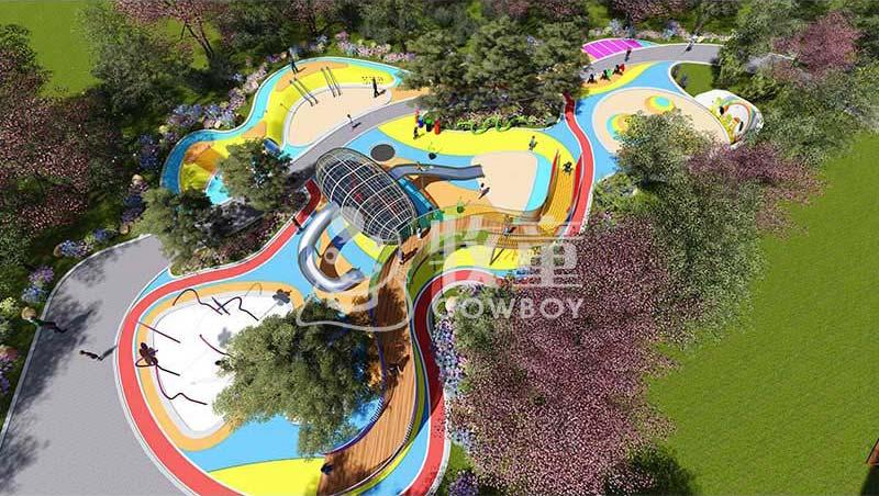 户外无动力儿童乐园设计|儿童乐园拓展游乐设施定制