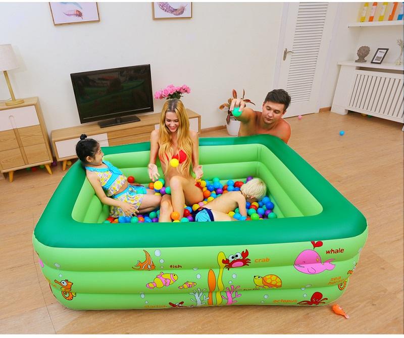 青海儿童游泳池-厂家直销河南充气式儿童游泳池