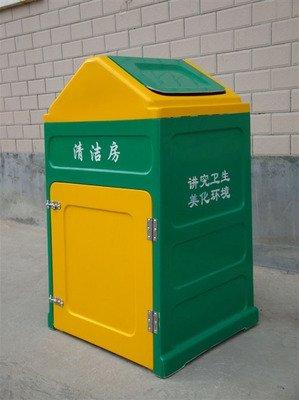 工厂定制玻璃钢垃圾箱 卡通分类垃圾桶