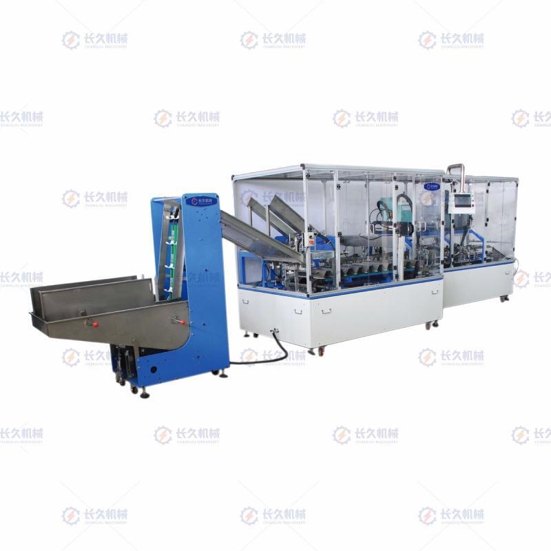 药片装盒机制订-长久机械提供专业的高精度全伺服装盒机
