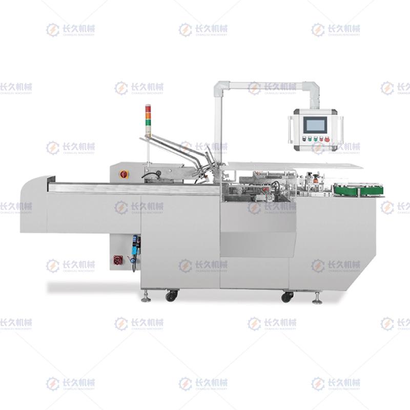 訂做餅干裝盒機-長久機械價格劃算的全機械連續式自動裝盒機出售