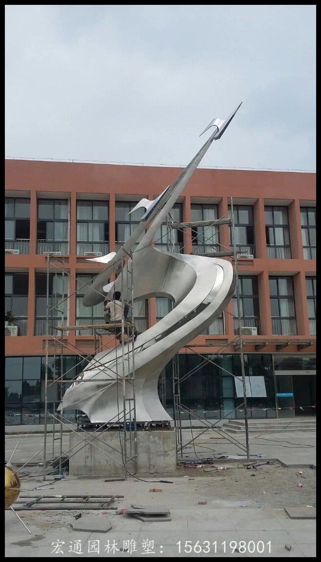 天天向上雕塑學校校園不銹鋼雕塑廠家