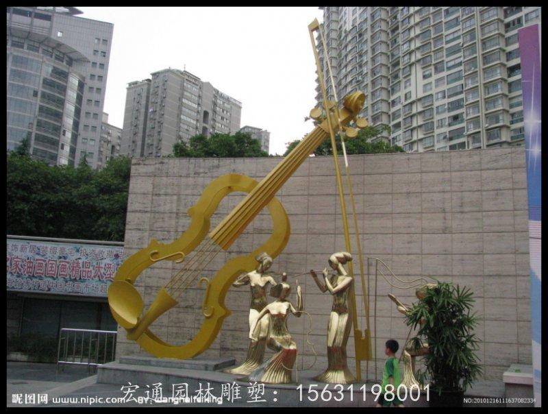 小提琴雕塑不锈钢公园雕塑厂家