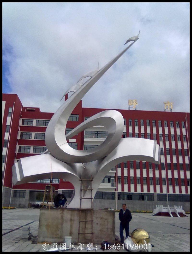 校园升华雕塑学校不锈钢抽象雕塑厂家