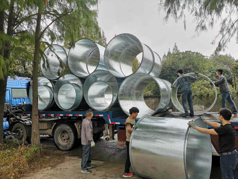 宁波不锈钢螺旋管-风管加工厂-广千暖通供